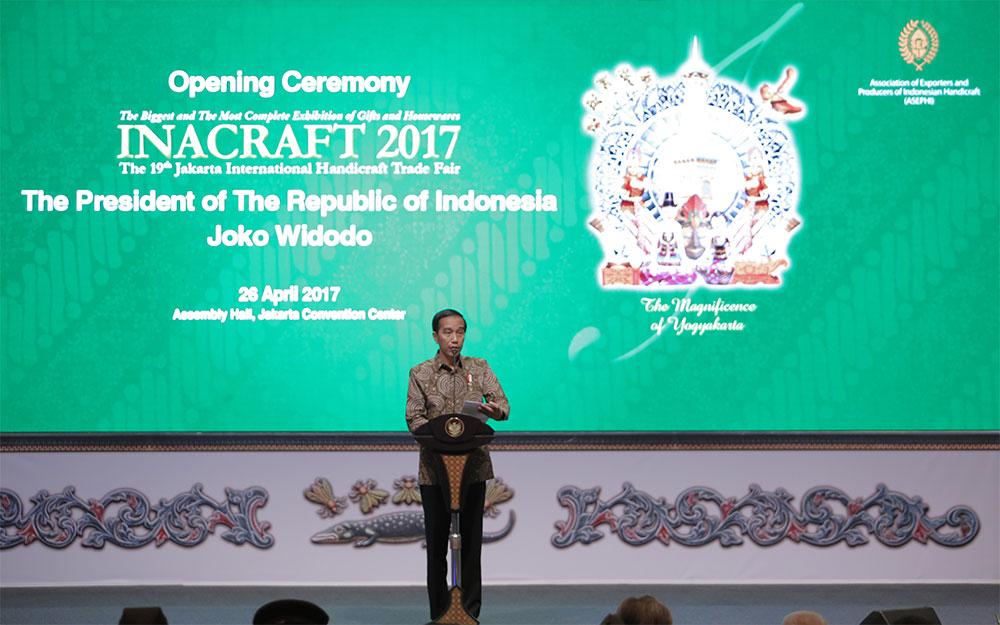 Pidato Presiden Republik Indonesia pada Pembukaan Acara Inacraft 2017